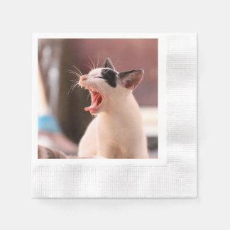 Wonderful Dangerous Cat Disposable Napkins