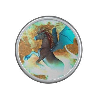 Wonderful dark unicorn with twisters bluetooth speaker