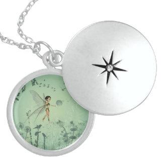 Wonderful fairy round locket necklace