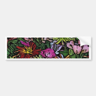 wonderful flowers paint bumper stickers