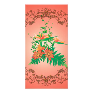 Wonderful flowers photo card
