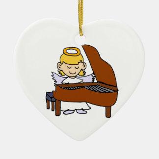 Wonderful Girl Angel Playing Piano Christmas Ornament