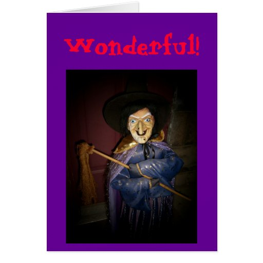 Wonderful! Halloween & Birthday Card