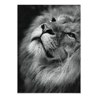 Wonderful Lion 13 Cm X 18 Cm Invitation Card