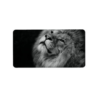 Wonderful Lion Address Label