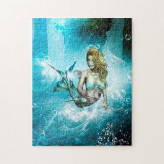 Wonderful mermaid in a fantasy underwater world jigsaw puzzle