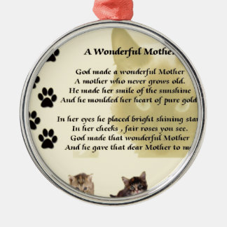 Wonderful Mother - Cats Christmas Ornament