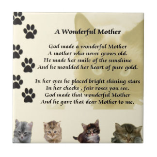 Wonderful Mother - Cats Tile