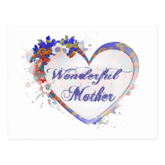 Wonderful Mother Floral Heart Gifts Postcard