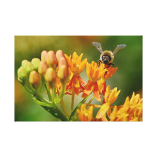 WONDERFUL NATURE OF PICTURES BEE&FLIGHT CANVAS PRINT