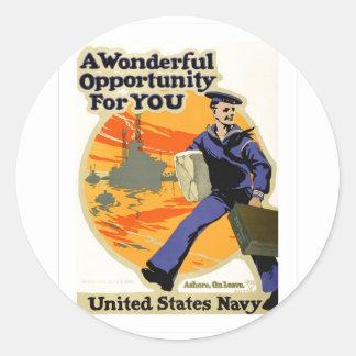 Wonderful Opportunity Classic Round Sticker