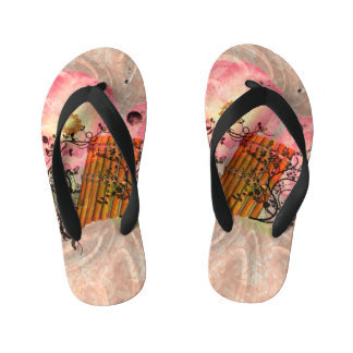 Wonderful pan flute flip flops