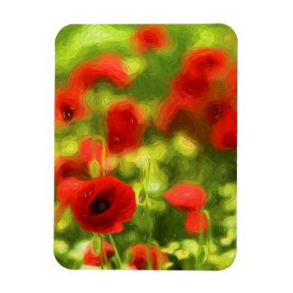 Wonderful poppy flowers VI - Wundervolle Mohnblume Rectangular Photo Magnet