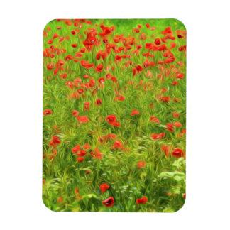Wonderful poppy flowers VII - Wundervolle Mohnblum Rectangular Photo Magnet