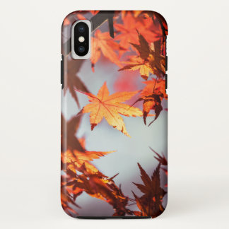 Wonderful Red Fall Autumn Leaves Maple Tree iPhone X Case