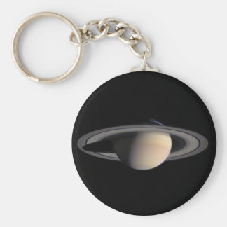 Wonderful Saturn Picture from NASA Basic Round Button Key Ring
