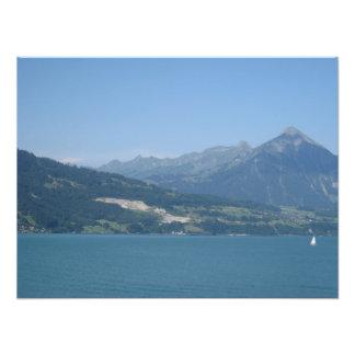 Wonderful scenery in Switzerland on Lake Thun Photograph
