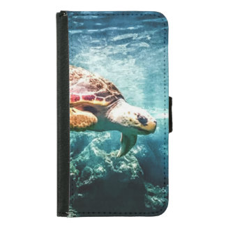 Wonderful  Sea Turtle Ocean Life Turquoise Sea Samsung Galaxy S5 Wallet Case