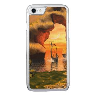 Wonderful seascape carved iPhone 7 case