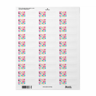 WONDERFUL SPRING COLLECTION WITH ICONS RETURN ADDRESS LABEL