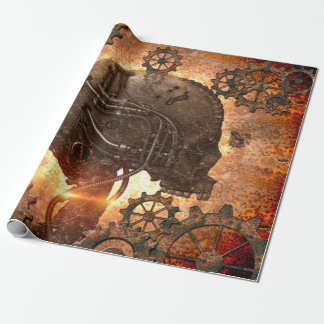 Wonderful  steampunk Skull Wrapping Paper