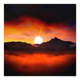 Wonderful Sunset Design Magnetic Invitations