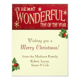 Wonderful Time Holiday Card 11 Cm X 14 Cm Invitation Card