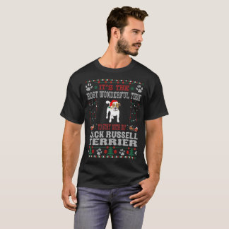Wonderful Time With Jack Russell Terrier Christmas T-Shirt