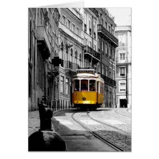 Wonderful Tram Line 28 in Lisbon Greeting Card