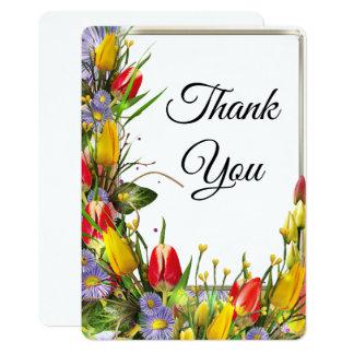 Wonderful tulips Thank You Card