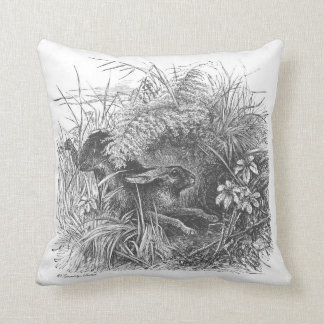 Wonderful vintage running rabbitt throw pillow! cushion