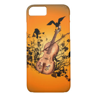 Wonderful violin with violin bow iPhone 7 case
