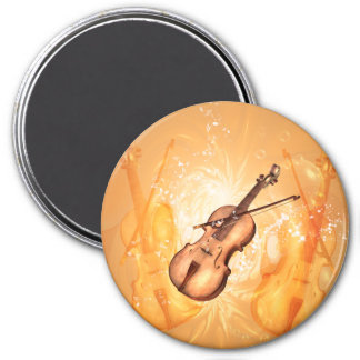 Wonderful violin with violin bow with key notes magnet