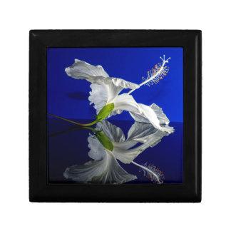 Wonderful White Hibiscus Flower Small Square Gift Box