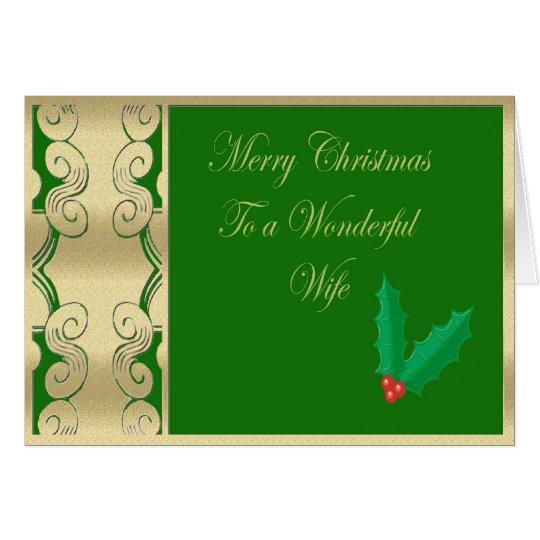 Wonderful wife merry Christmas Card