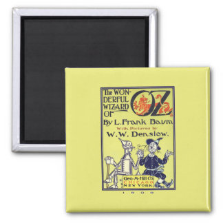 Wonderful Wizard of Oz Square Magnet