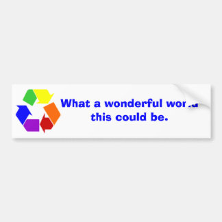 wonderful world bumper sticker
