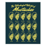 Wonderful World of Moustaches Poster