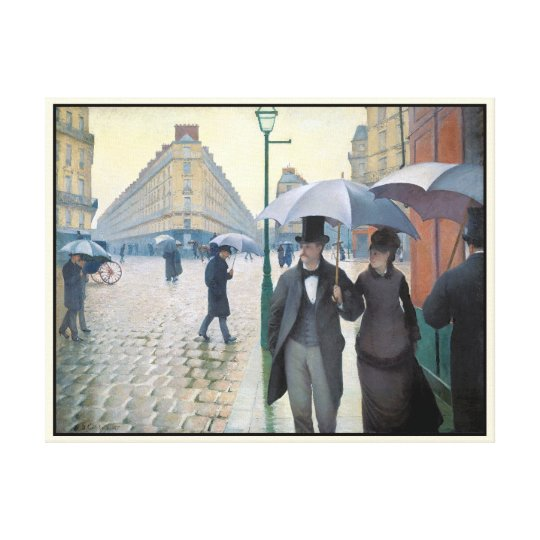 Wonderfully realistic painting Rainy day in Paris Canvas Print