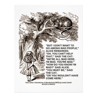 Wonderland Alice Go Among Mad People Quote 21.5 Cm X 28 Cm Flyer
