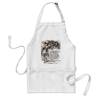 Wonderland Alice Go Among Mad People Quote Standard Apron