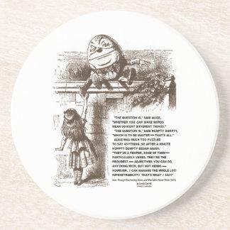 Wonderland Alice Humpty Dumpty Conversation Quote Coasters