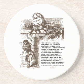 Wonderland Alice Humpty Dumpty Conversation Quote Coasters