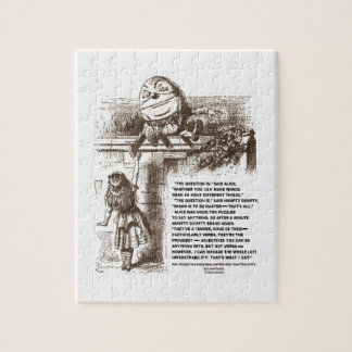 Wonderland Alice Humpty Dumpty Conversation Quote Jigsaw Puzzle