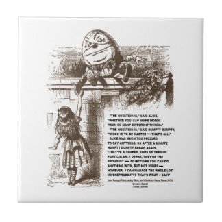 Wonderland Alice Humpty Dumpty Conversation Quote Small Square Tile