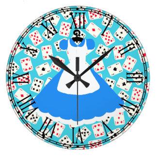 Wonderland Alice Pattern Large Clock
