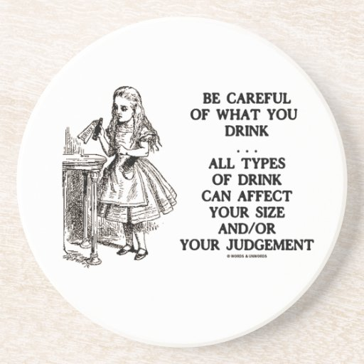 Wonderland Be Careful Of What You Drink (Alice) Coasters