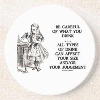 Wonderland Be Careful Of What You Drink (Alice) Sandstone Coaster