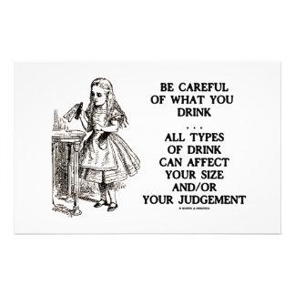 Wonderland Be Careful What You Drink (Alice) Custom Stationery