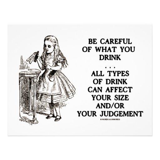 Wonderland Be Careful What You Drink (Alice) Flyer